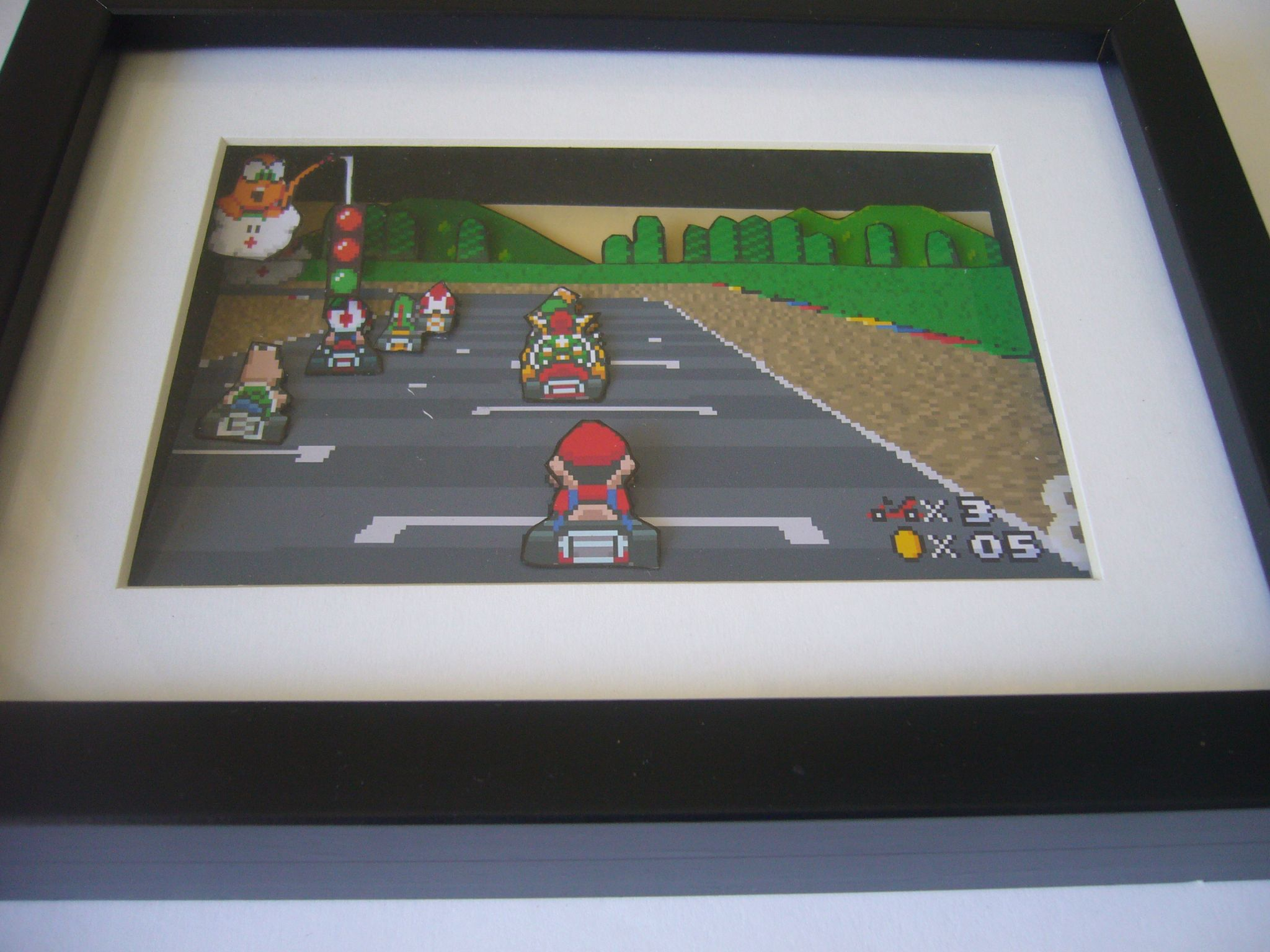 Super Mario Kart 3D Diorama Shadow Box